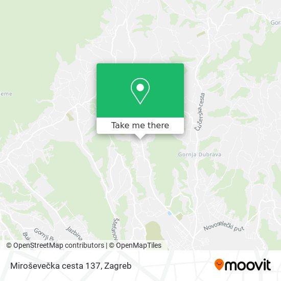 Miroševečka cesta 137 map