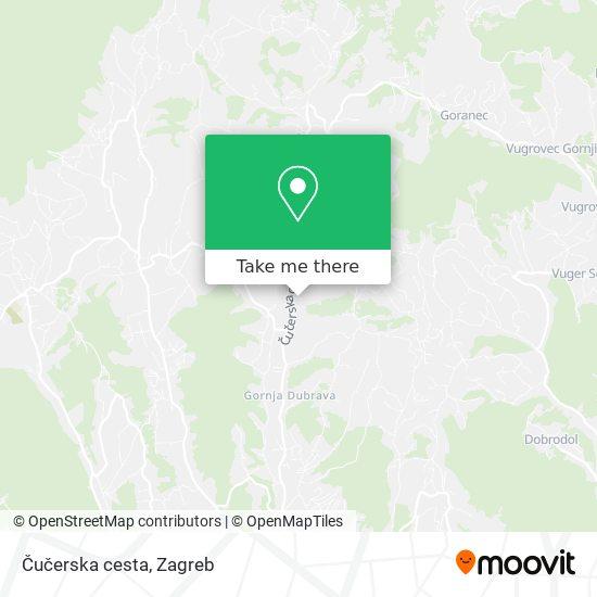 Čučerska cesta map
