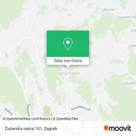 Čučerska cesta 101 map