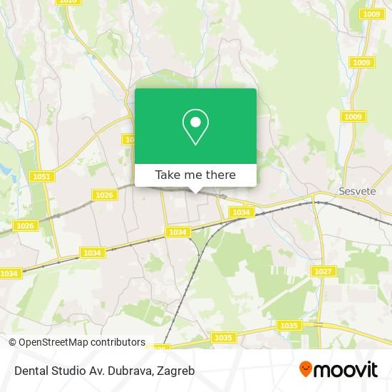 Dental Studio Av. Dubrava map