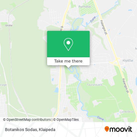 Botanikos Sodas map