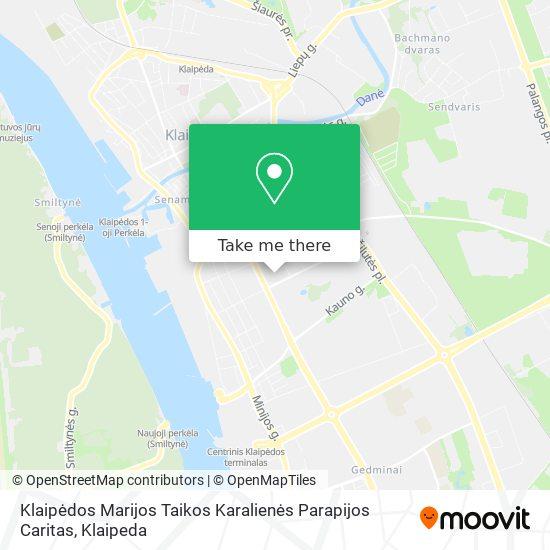 Klaipėdos Marijos Taikos Karalienės Parapijos Caritas map