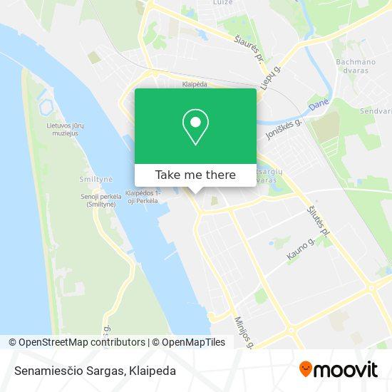 """""""Senamiesčio Sargas"""" map"""