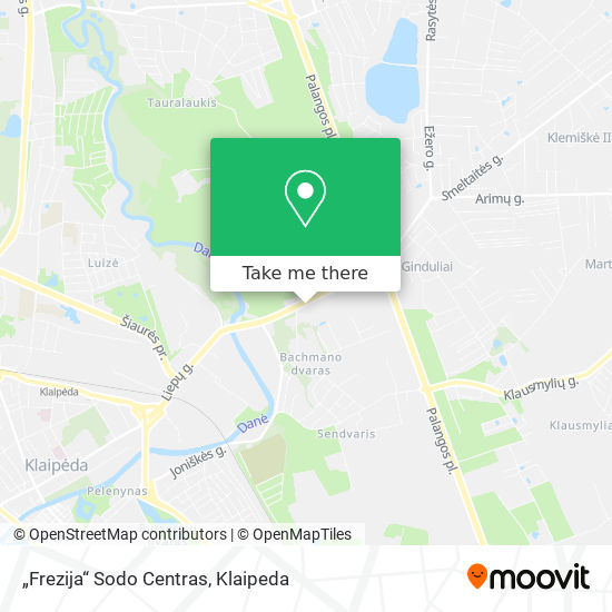 """Frezija"" Sodo Centras map"