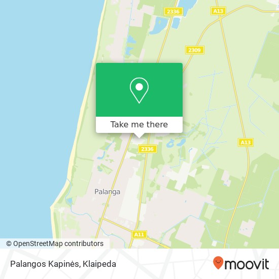 Palangos Kapinės map