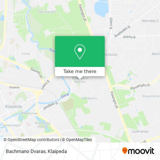 Bachmano Dvaras map