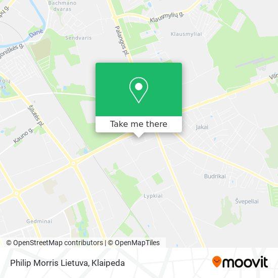 Phillip Morris Lietuva map