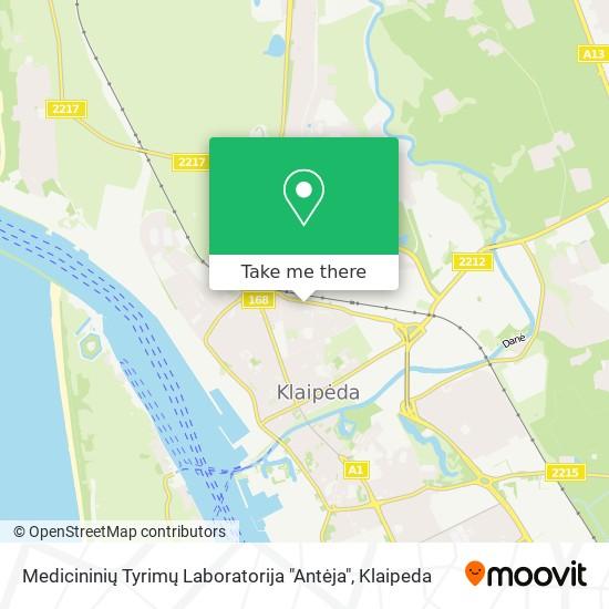 """Medicininių Tyrimų Laboratorija """"Antėja"""" map"""