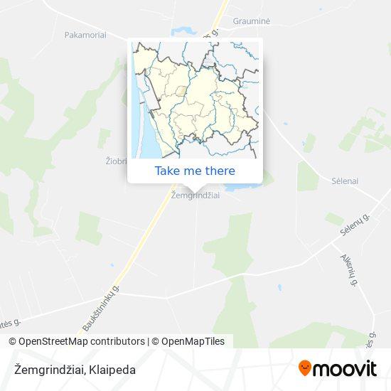 Žemgrindžiai map
