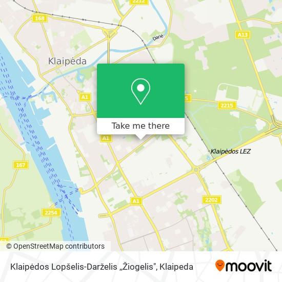 "Klaipėdos Lopšelis-Darželis ,,Žiogelis"" map"