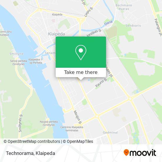 Topo Centras map