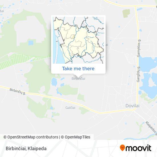 Birbinčiai map