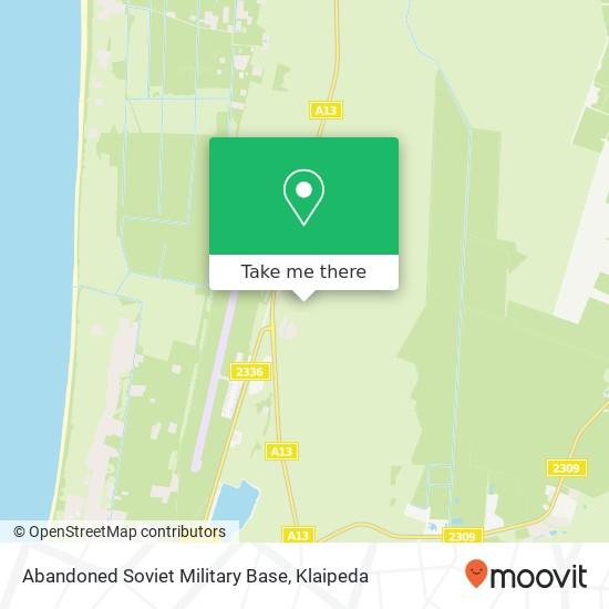 Abandoned Soviet Military Base map