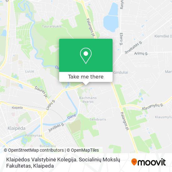 Klaipėdos Valstybinė Kolegija. Socialinių Mokslų Fakultetas map