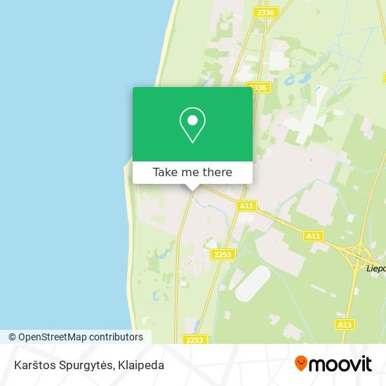 Karštos Spurgytės map