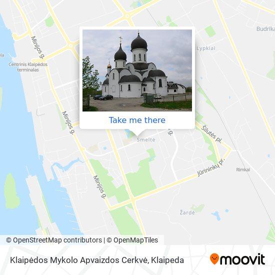 Klaipėdos Mykolo Apvaizdos Cerkvė map