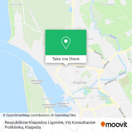 Respublikinė Klaipėdos Ligoninė, Všį Konsultacinė Poliklinika map