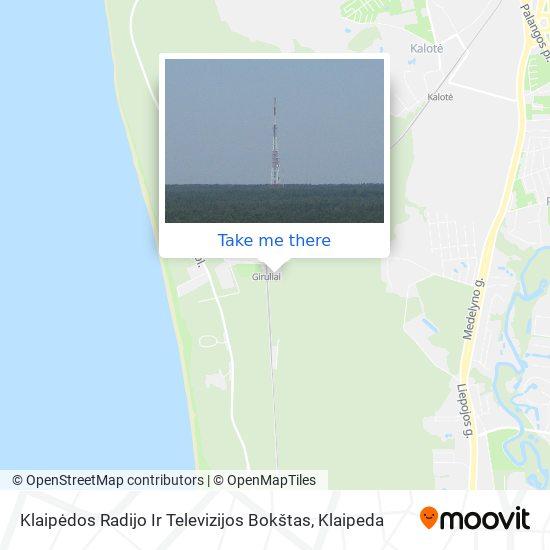 Klaipėdos Radijo Ir Televizijos Bokštas map