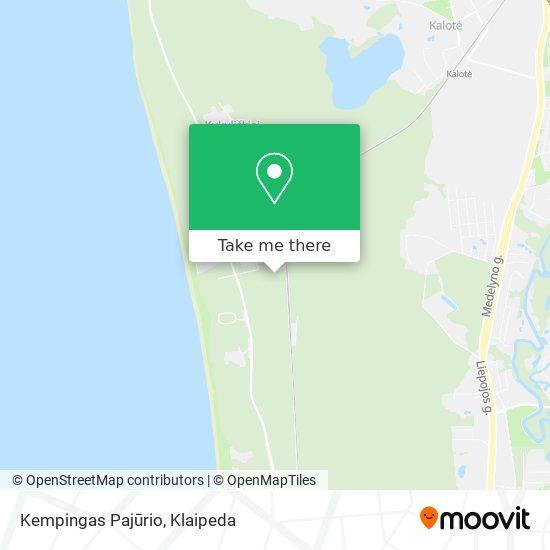 Kempingas Pajūrio map