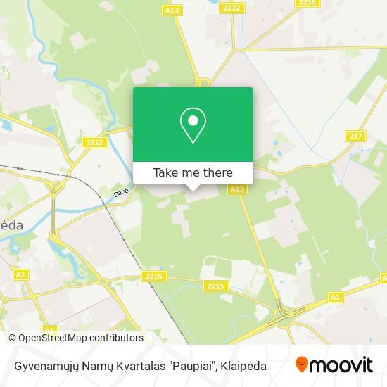 """Gyvenamųjų Namų Kvartalas """"Paupiai"""" map"""
