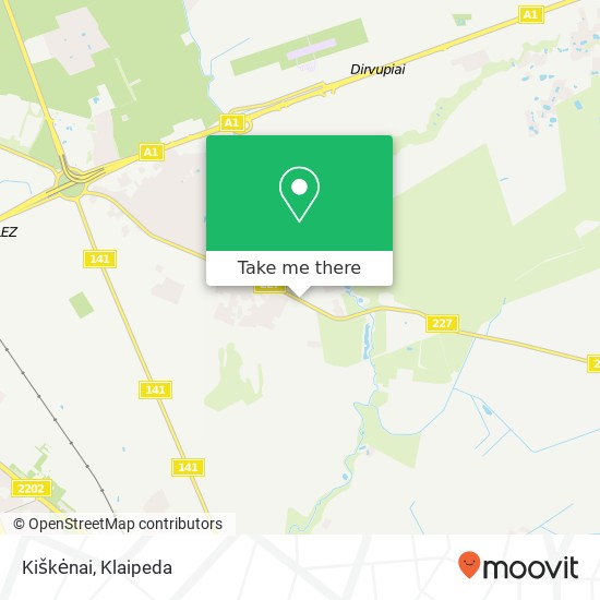 Карта Kiškėnai