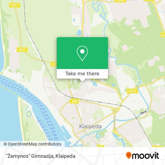"""""""Žemynos"""" Gimnazija map"""