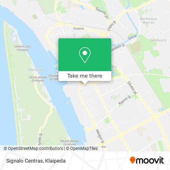 Signalo Centras map