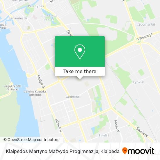 Klaipėdos Martyno Mažvydo Progimnazija map