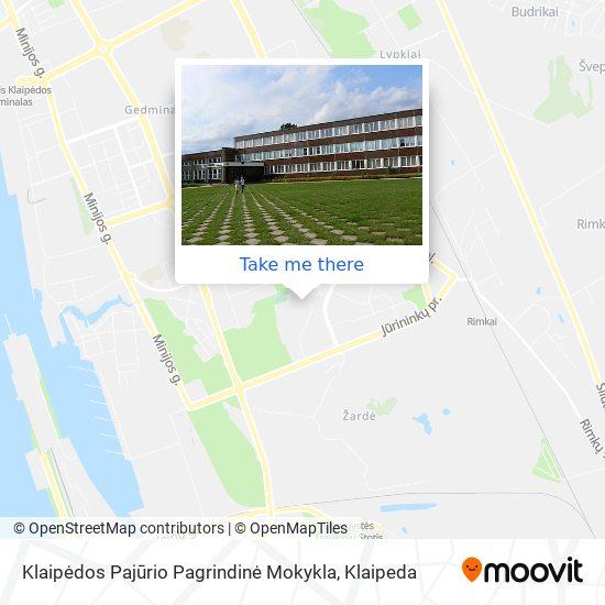 Klaipėdos Pajūrio Pagrindinė Mokykla map