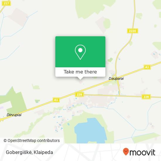 Gobergiškė map