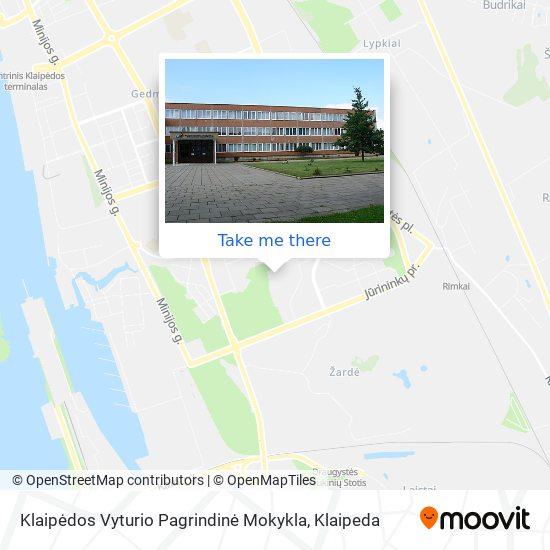 Klaipėdos Vyturio Pagrindinė Mokykla map