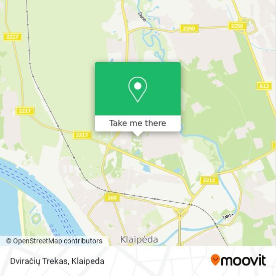 Dviračių Trekas map