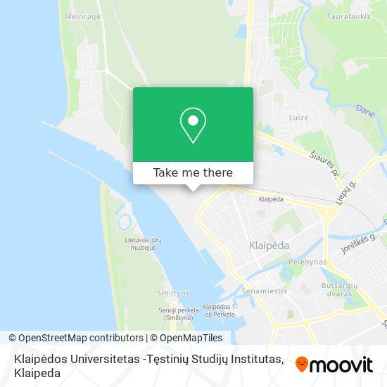 Klaipėdos Universitetas -Tęstinių Studijų Institutas map