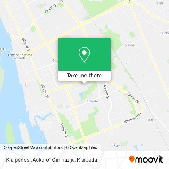Klaipėdos Aukuro Gimnazija map