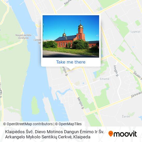 Klaipėdos Sentikių Cerkvė map
