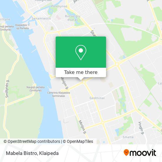 Mabela Bistro map