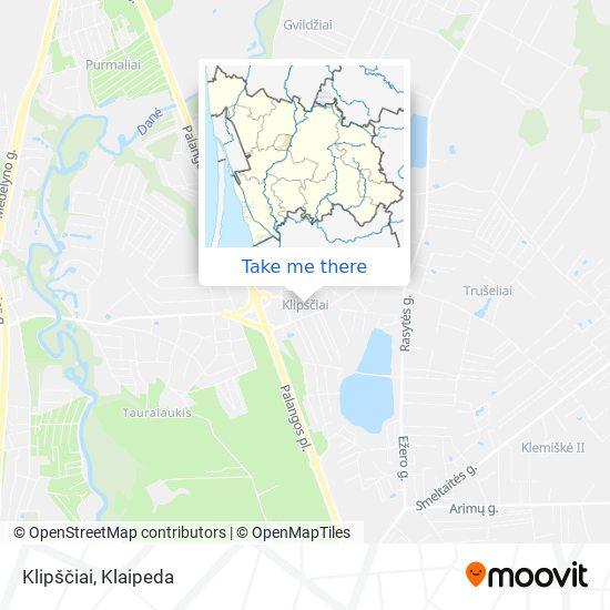 Klipščiai map