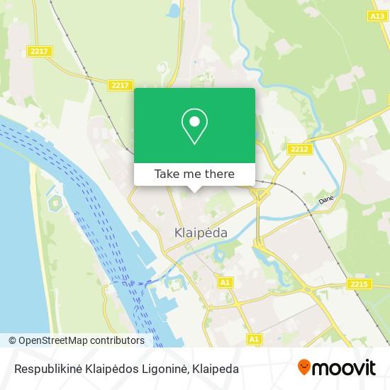 Respublikinė Klaipėdos Ligoninė map