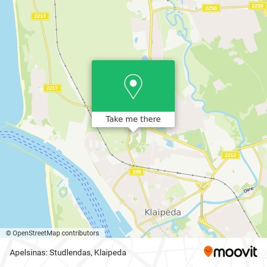 Apelsinas: Studlendas map