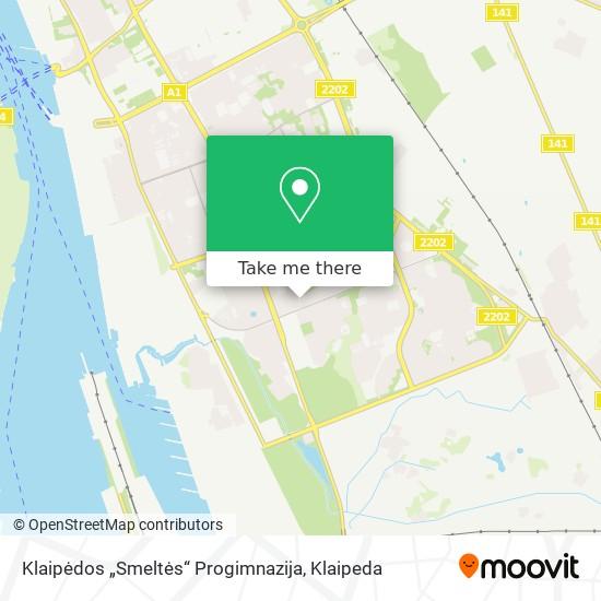 """Klaipėdos """"Smeltės"""" Progimnazija map"""