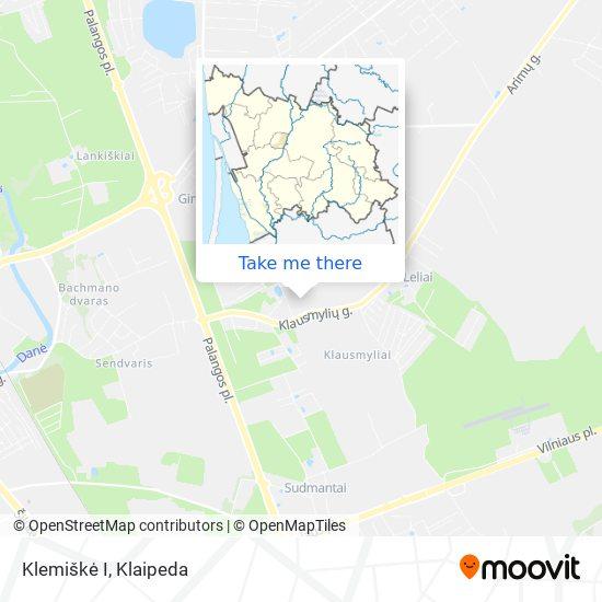 Klemiškė I map
