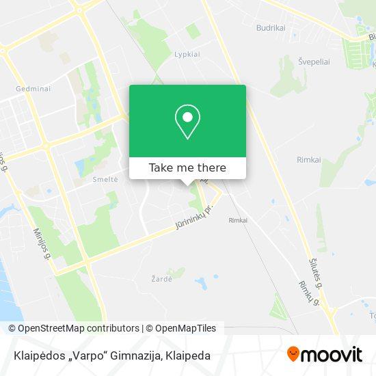 Varpo Gimnazija map