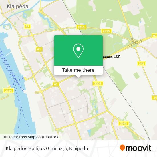 Klaipėdos Baltijos Gimnazija map