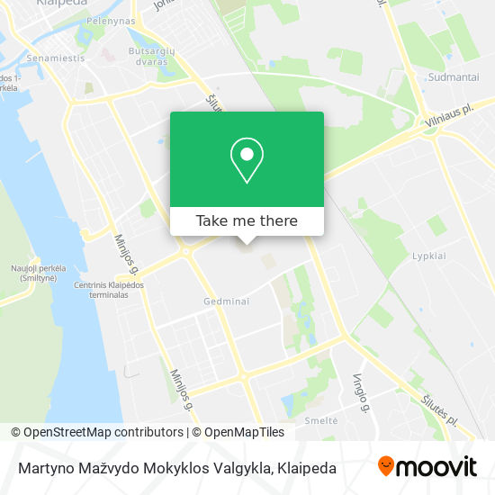 Martyno Mažvydo Mokyklos Valgykla map