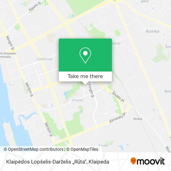 """Lopšelis-Darželis """"Rūta"""" map"""