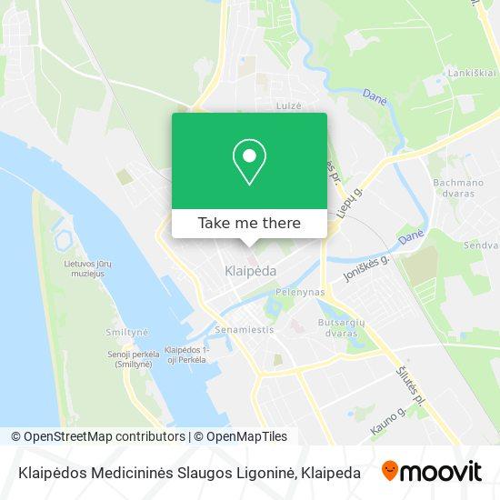 Klaipėdos Medicininės Slaugos Ligoninė map