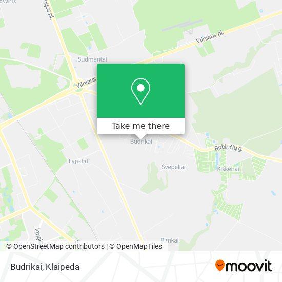 Budrikai map