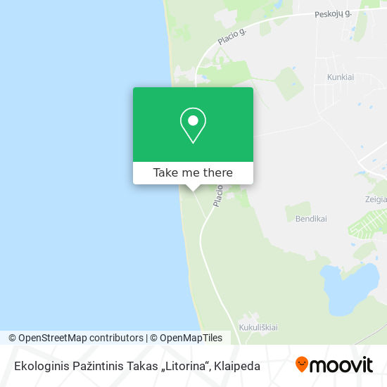 """Ekologinis Pažintinis Takas """"Litorina"""" map"""