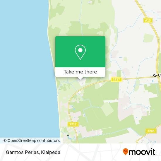 Gamtos Perlas map