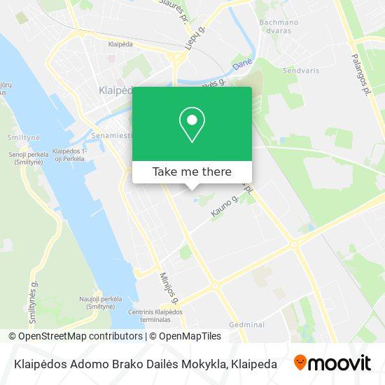 Klaipėdos Adomo Brako Dailės Mokykla map